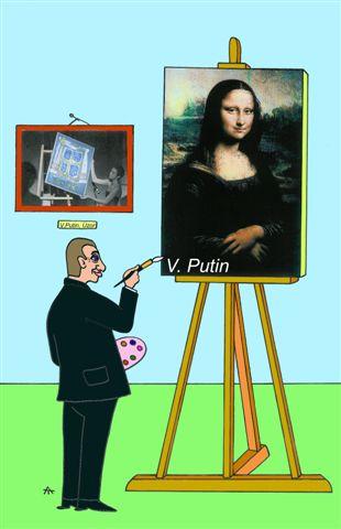 Карикатура: Жил был художник один, Alexei Talimonov