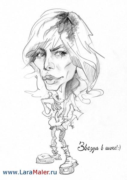 Карикатура: Звезда в шоке, lara