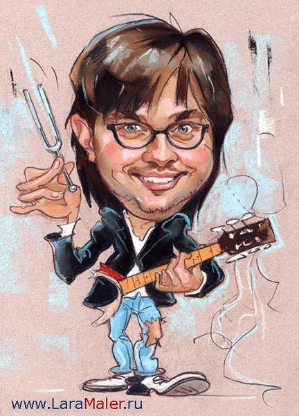 Карикатура: Кирилл из Jukebox Трио