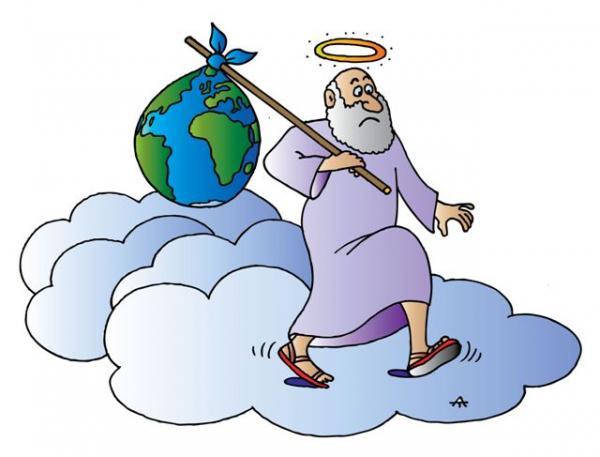 Карикатура: Бог, Alexei Talimonov