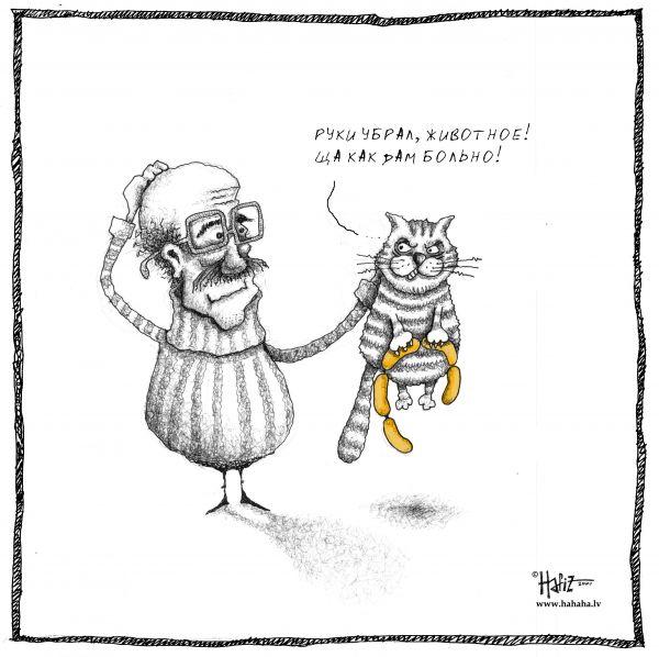 Карикатура: Котег, Hafiz
