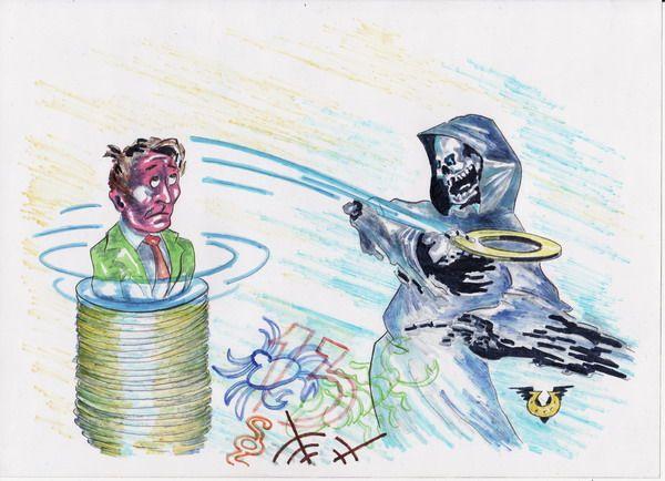 Карикатура: Фаталист, Владимир Уваров