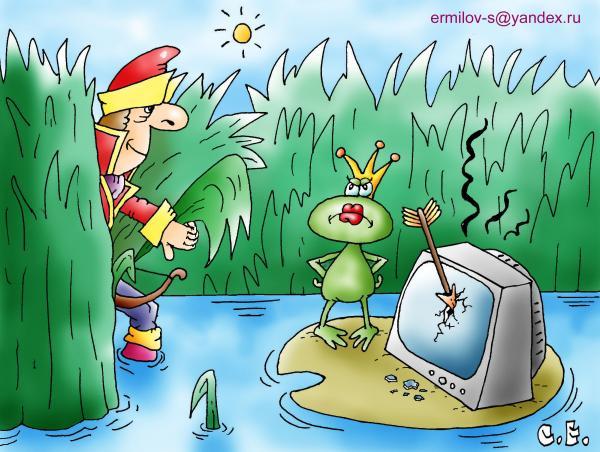 Карикатура: Телекиллер, Сергей Ермилов