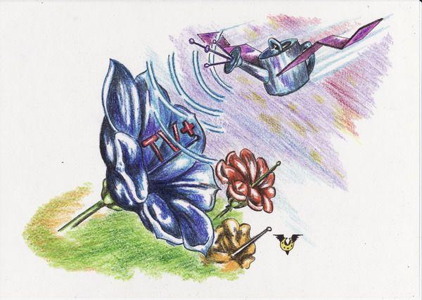 Карикатура: Телецветы, Владимир Уваров