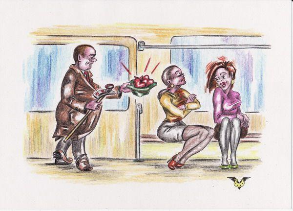 Карикатура: Весенняя благотворительность, Владимир Уваров
