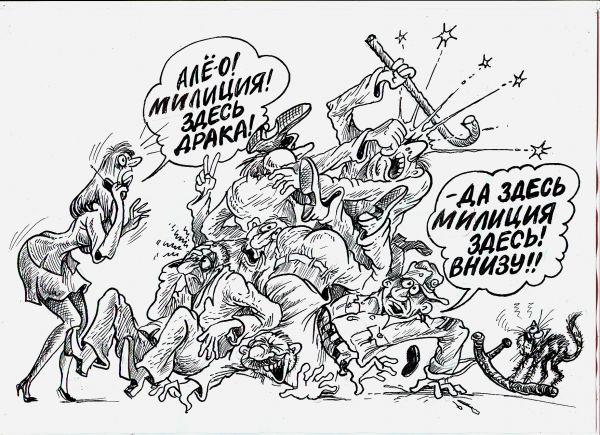 Карикатура: Всегда на посту, Бауржан Избасаров
