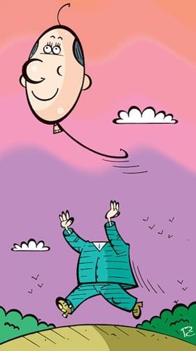 Карикатура: Полет, Сергей Репьёв