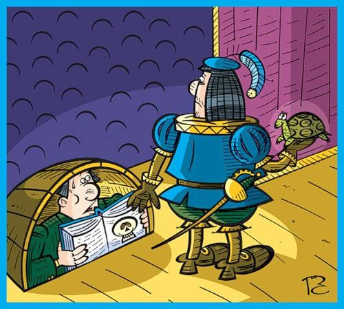 Карикатура: Бедный бедный Йорик, Сергей Репьёв