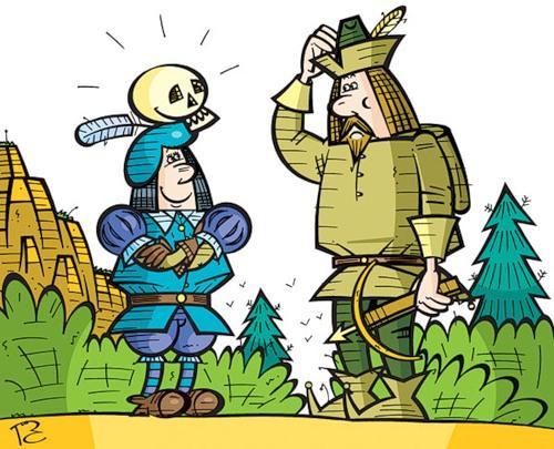 Карикатура: Случай с Тилем, Сергей Репьёв