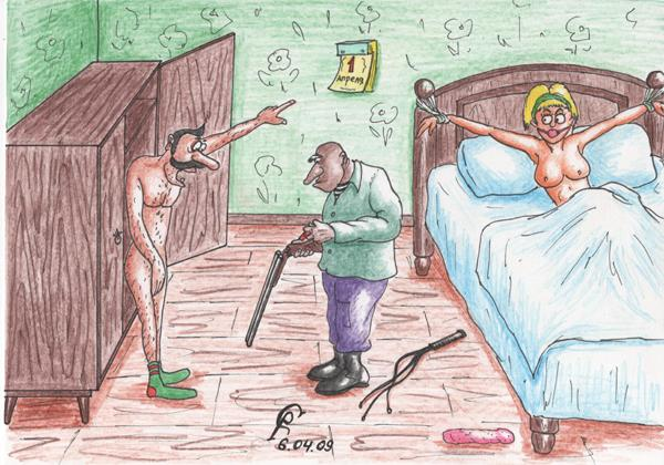 Карикатура: Неудачный розыгрыш, Серебряков Роман