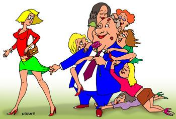 Карикатура: Феромоны, Евгений Кран