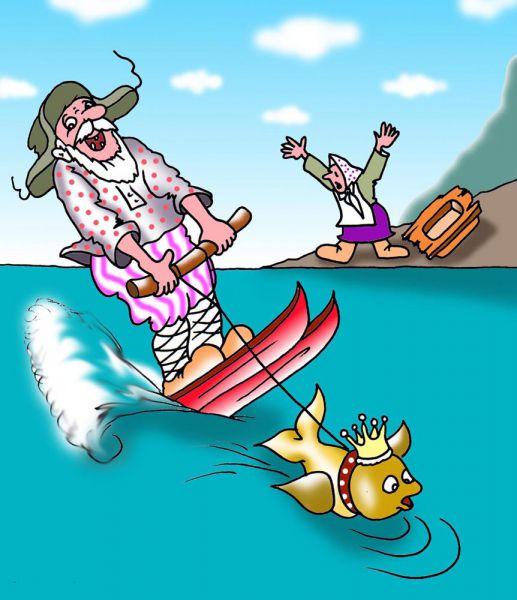 Карикатура: Водный отдых, Игорь Ревякин