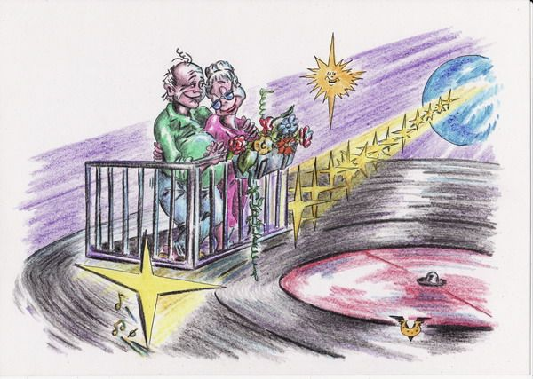 Карикатура: Звуки летнего вечера, Владимир Уваров