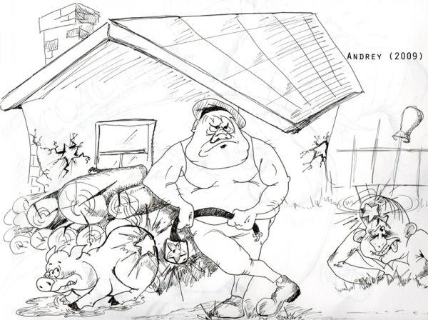 Карикатура: Илья-Тимуровец, Andrey Piskaryov