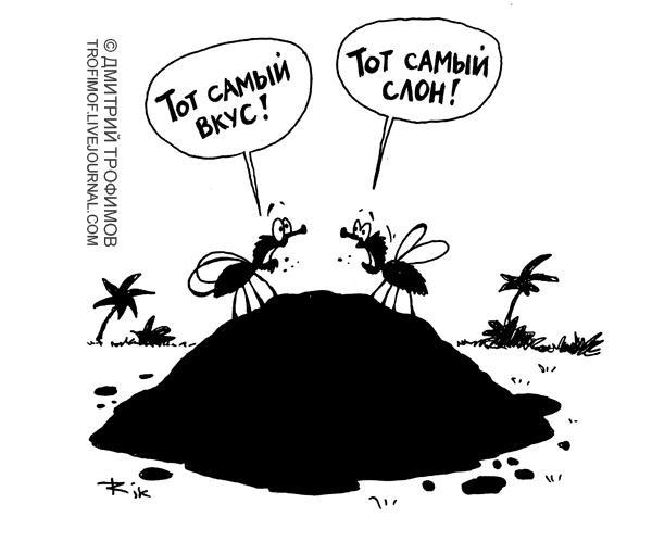 Карикатура: Тот самый вкус!, Трофимов Дмитрий