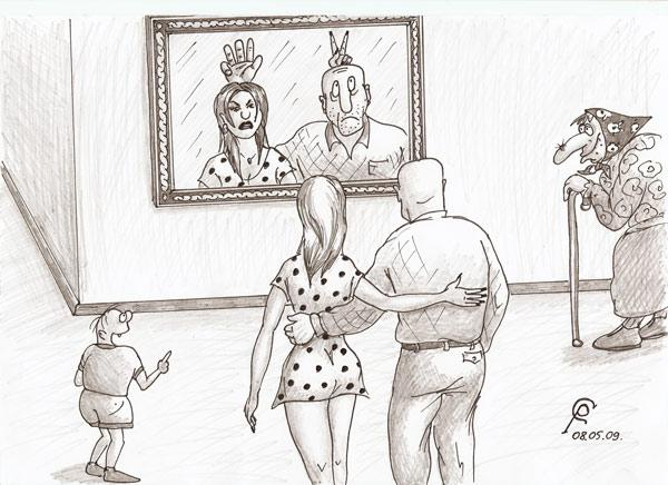 Карикатура: Комната смеха 2. - Зеркало правды., Серебряков Роман