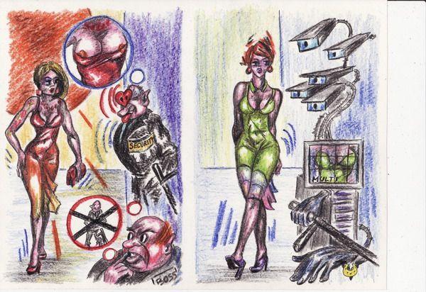 Карикатура: Железная охрана, Владимир Уваров