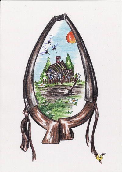 Карикатура: Отдых на даче, Владимир Уваров