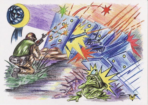 Карикатура: Квакнула лягушка, Владимир Уваров