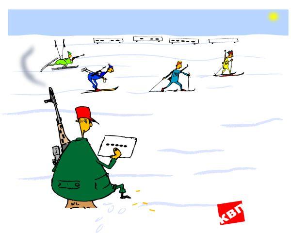 Карикатура: Боец невидимого фронта, kvp