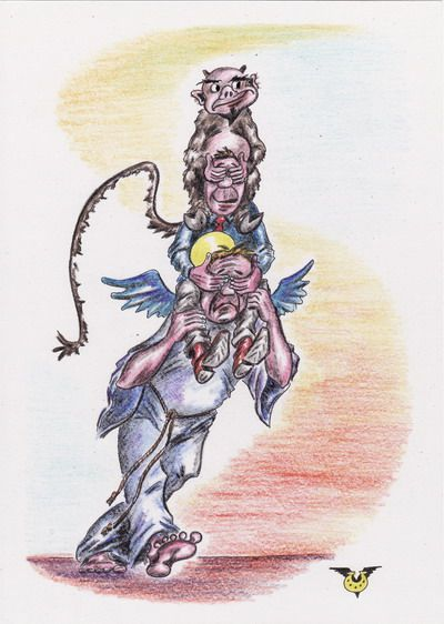 Карикатура: Путь к истине, Владимир Уваров