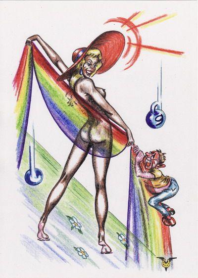 Карикатура: Большое дачное чувство, Владимир Уваров