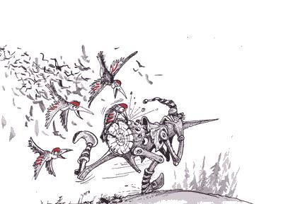 Карикатура: Дятлы, Бауржан Избасаров