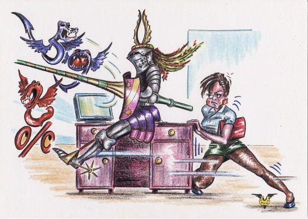 Карикатура: Шеф утром, Владимир Уваров