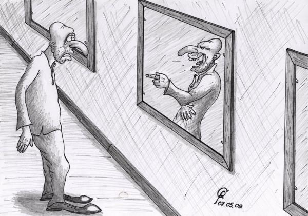 Карикатура: Комната смеха, Серебряков Роман