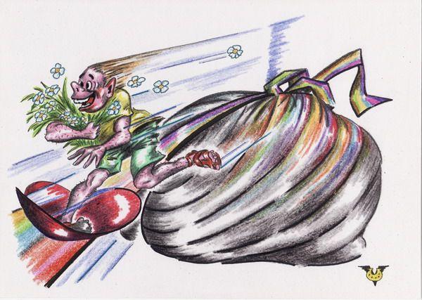 Карикатура: Летний слалом, Владимир Уваров