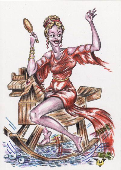 Карикатура: Безответственная красота - страшная сила, Владимир Уваров