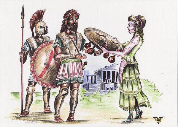 Карикатура: Со щитом или на щите !, Владимир Уваров