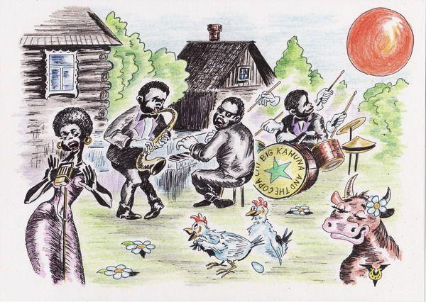 Карикатура: Дачный марш, Владимир Уваров