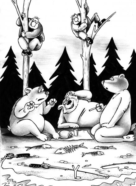 Карикатура: Рыбалка, Сергей Корсун