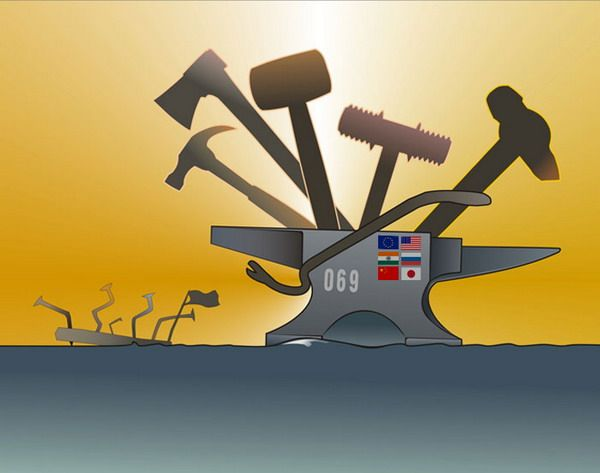 Карикатура: Мир борется с сомалийскими пиратами, motaroller