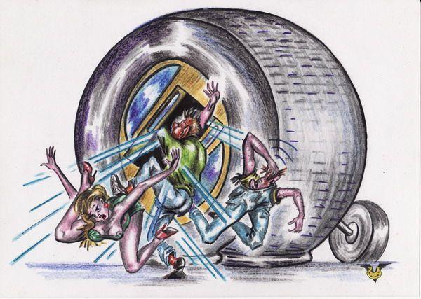 Карикатура: Автобус, Владимир Уваров