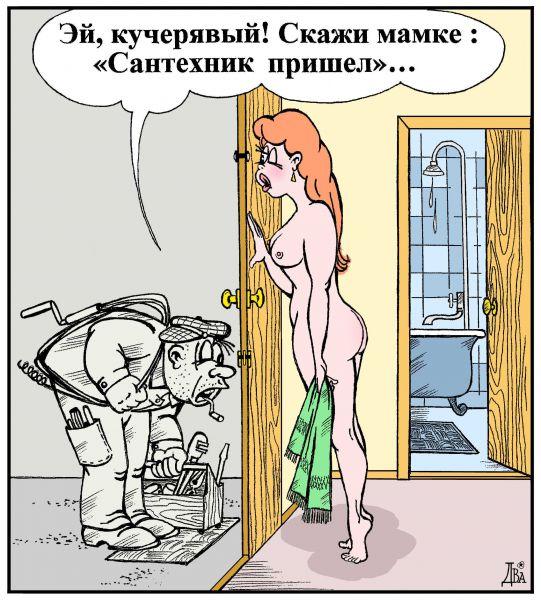 Карикатура: сантехник, виктор дидюкин