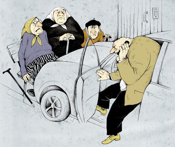 Карикатура: Особенности национальной парковки, Ольга Громова