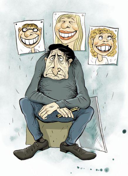 Карикатура: Уличный шаржист, Ольга Громова