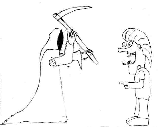 Карикатура: Докурился, Lionich