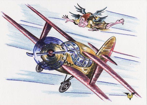 Карикатура: Горбатый ангел-хранитель, Владимир Уваров