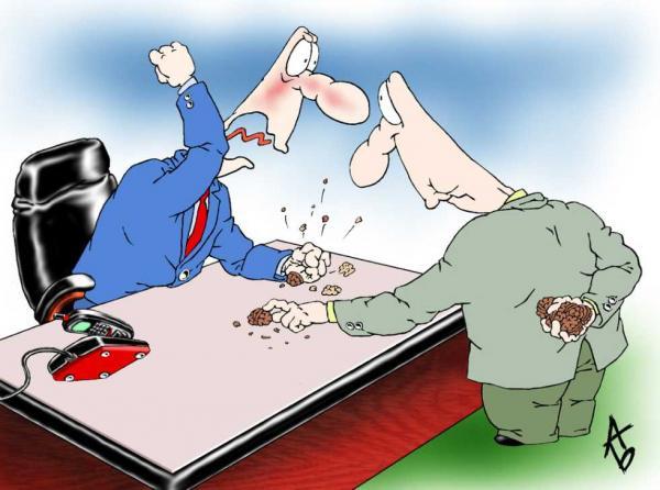 Карикатура: Разнос, Андрей Бузов