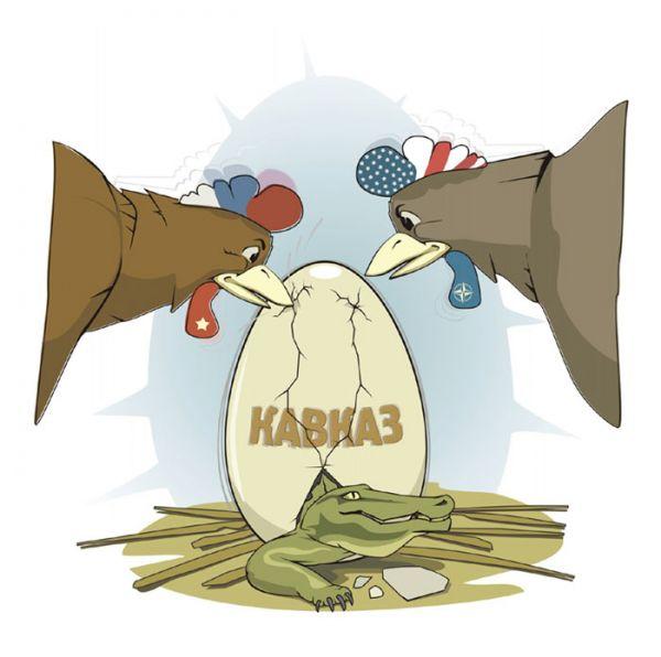 Карикатура: Большая политика на малом Кавказе, motaroller