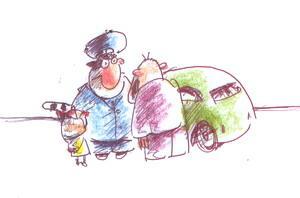 Карикатура: Дяденька Шакал, отпустите папу..., Iofik