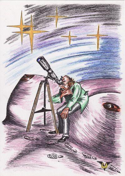 Карикатура: Поиск разумной жизни, Владимир Уваров