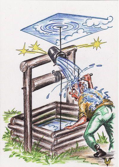 Карикатура: Десять литров неба, Владимир Уваров