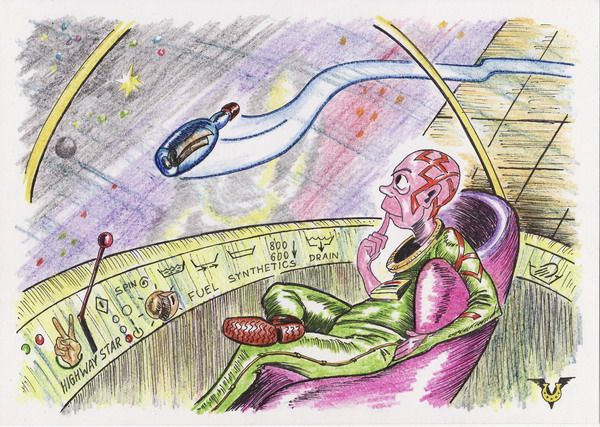 Карикатура: Послание, Владимир Уваров