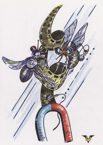 Карикатура: Липучка для мух, Владимир Уваров