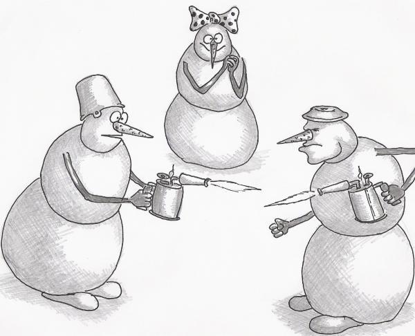 Карикатура: Дуэль, Серебряков Роман